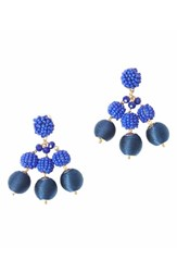 Lilly Pulitzer Salsa Copa Clip On Earrings True Navy