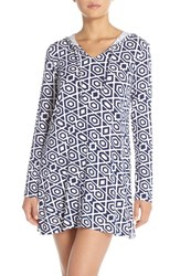 Women's Mott 50 Print Hooded Cover Up Navy Diamond