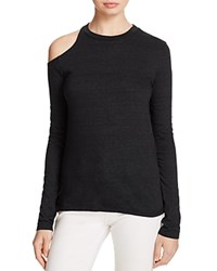 Pam And Gela Single Shoulder Cutout Tee Black