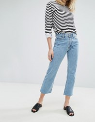 Dr. Denim Dr Meadow Mid Rise Crop Flare Jean Organic Light Retro Blue