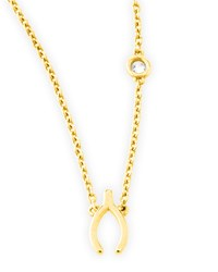 Wishbone Pendant Bezel Diamond Necklace Shy By Sydney Evan Gold