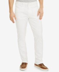 Kenneth Cole Reaction Men's Straight Fit Cotton Denim Jeans White
