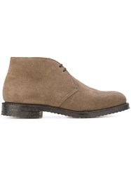 Church's Desert Boots Men Leather Suede Rubber 7 Brown
