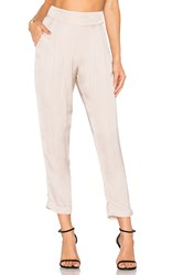 Enza Costa Pleated Easy Pant Blush