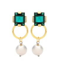 Marni Crystal Earrings Green