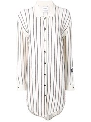 Barrie Stripe Knitted Shirt Dress Neutrals