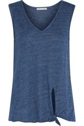 Tart Collections Lilla Knotted Jersey Tank Cobalt Blue