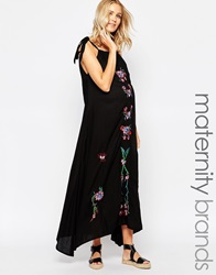 Fillyboo Maxi Dress With Embroidery Black