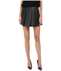 Armani Jeans Leather Mini Skirt Black