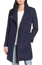 Kenneth Cole New York Pressed Boucle Coat Grape