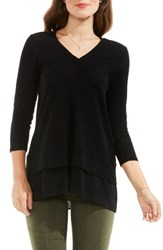 Vince Camuto Women's Two By Mixed Media Tunic Rich Black