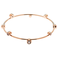 Cachet London Solitaire Swarovski Crystals Bangle Rose Gold