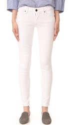 True Religion Casey Low Rise Super Skinny Jeans Optic White