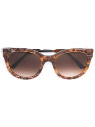 Thierry Lasry Cat Eye Sunglasses Brown