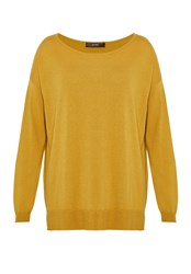 Hallhuber Fine Knit Boxy Jumper Yellow