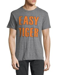 Chaser Easy Tiger Short Sleeve Tee Gray