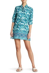 Tommy Bahama Amongst Fronds Boyfriend Cover Up Shirt Ming Jade