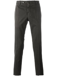 Pt01 Slim Fit Trousers Brown