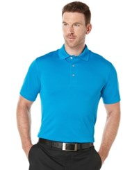 Pga Tour Men's Big And Tall Golf Performance Airflux Polo Methyl Blue