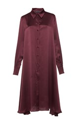 Martin Grant A Line Shirt Dress Red