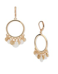 Anne Klein Circular Drop Earrings Gold
