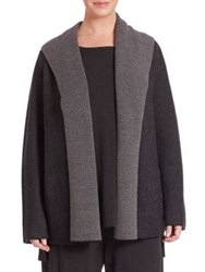 Eileen Fisher Plus Size Hooded Knit Cardigan
