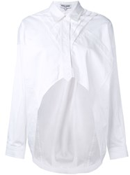 Opening Ceremony Cropped Front Top Women Silk Cotton 4 White