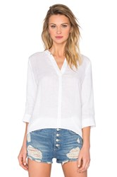 Michael Stars Lightweight Linen Split Neck Tunic White