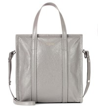 Balenciaga Bazar Leather Shopper Grey