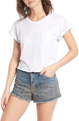 Sun And Shadow Women's Crop Tee White