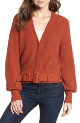 Leith Belted Sweater Brown Spice
