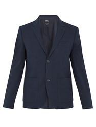 A.P.C. Jerome Stretch Cotton Blazer Navy