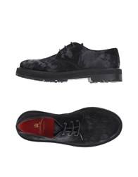 Leather Crown Footwear Lace Up Shoes Black