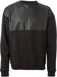 Avelon Leather Panel Sweatshirt