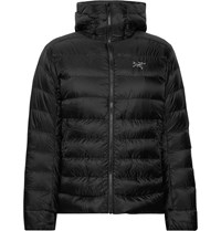 Arc'teryx Cerium Sv Quilted Arato Down Hooded Jacket Black