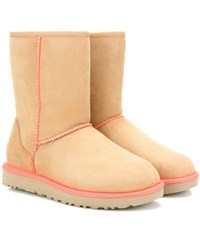 Ugg Classic Short Ii Suede Ankle Boots Beige