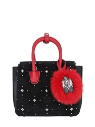 Mcm Mini Milla Studded Velvet Shoulder Bag