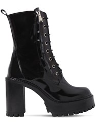Strategia 90Mm Pill Patent Leather Boots Black