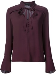 Yigal Azrouel Ruffle Detail Blouse Red