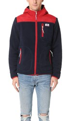 Penfield Carson Hooded Pile Fleece Jacket Navy