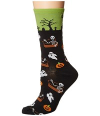 Socksmith Undead Friends Lime Crew Cut Socks Shoes Green