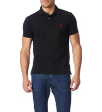 Ralph Lauren Customfit Mesh Polo Shirt Polo Black