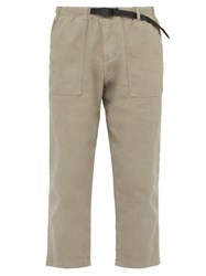 Gramicci Belted Cotton Twill Trousers Grey