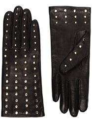 Agnelle Claire Studded Leather Gloves 60