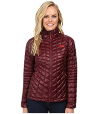 The North Face Thermoball Full Zip Jacket Deep Garnet Red Women's Coat Brown