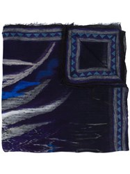 Yigal Azrouel 'Abstract Agate' Scarf Black