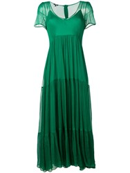 Aspesi Ruffled Dress Green