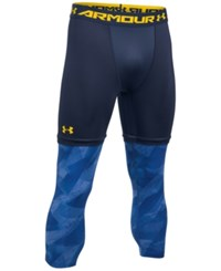 Under Armour Men's Compression Cropped Tights Midnight Blue