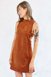 Oh My Love Suede Tank Dress Brown
