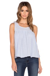 Bcbgeneration Shirred Babydoll Top Blue